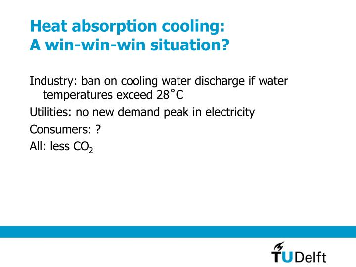 Heat absorption cooling: