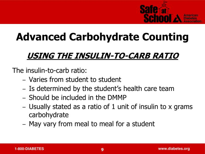 Advanced Carbohydrate Counting