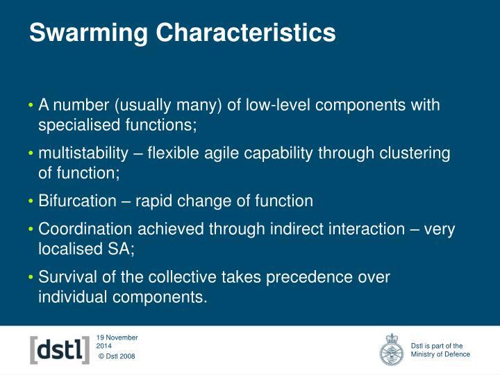 Swarming Characteristics