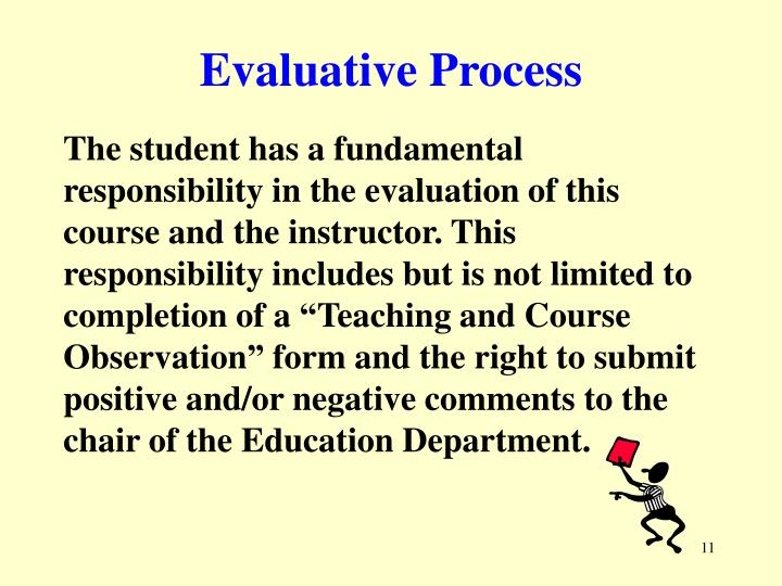 Evaluative Process