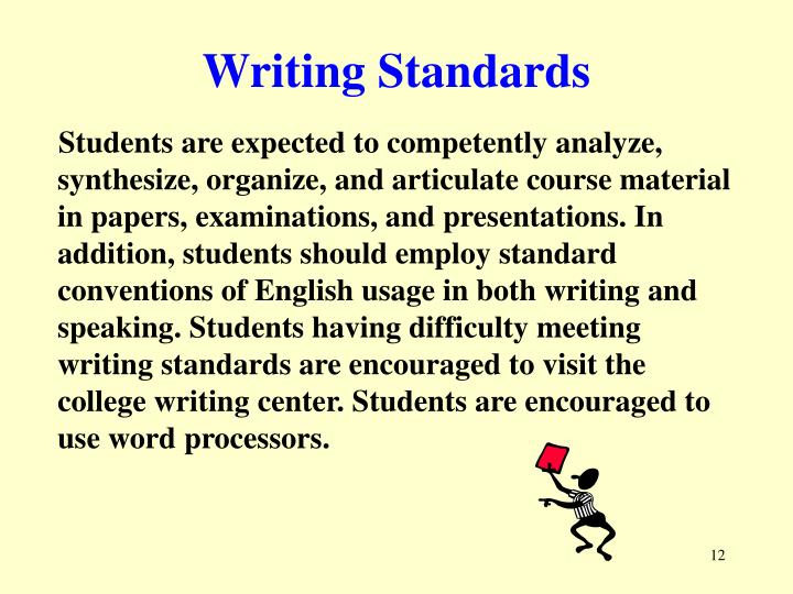 Writing Standards