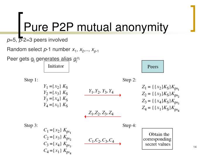 Pure P2P mutual anonymity