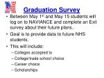 graduation survey
