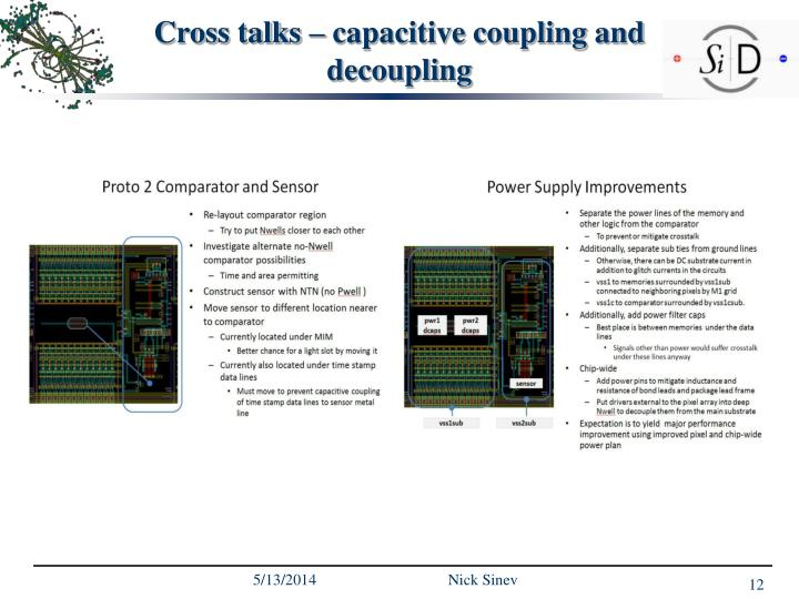 Cross talks – capacitive coupling and  decoupling