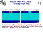 options with nwell diode violating design rules