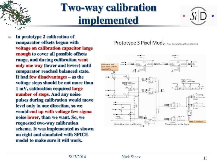Two-way calibration implemented