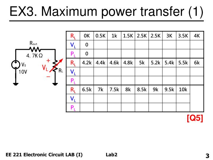 EX3. Maximum power transfer (1)
