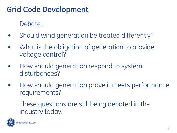 Grid Code Development