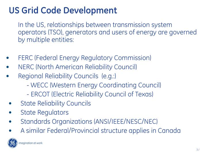 US Grid Code Development
