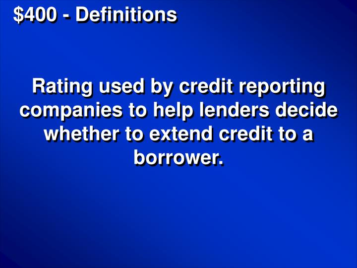 $400 - Definitions