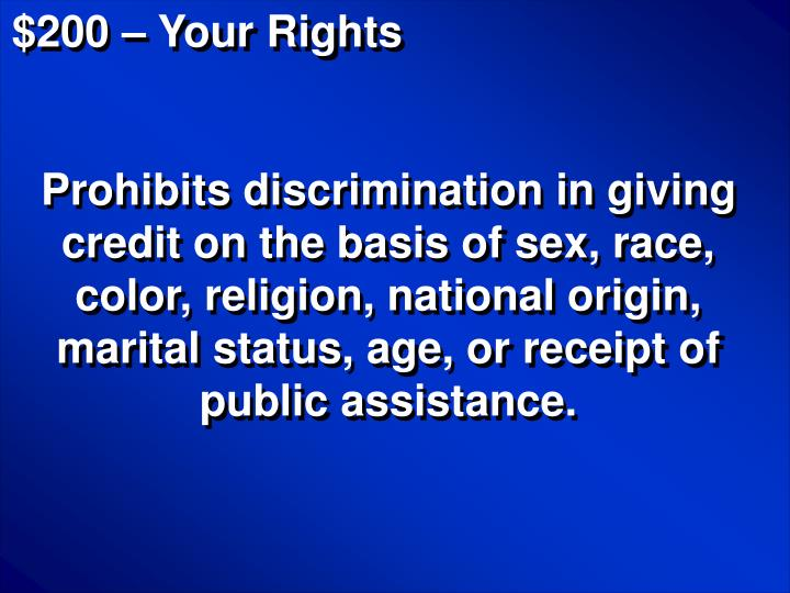 $200 – Your Rights