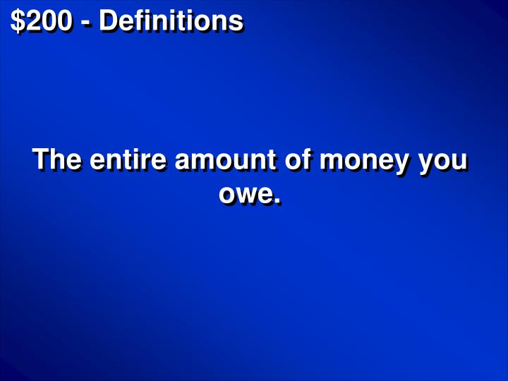 $200 - Definitions