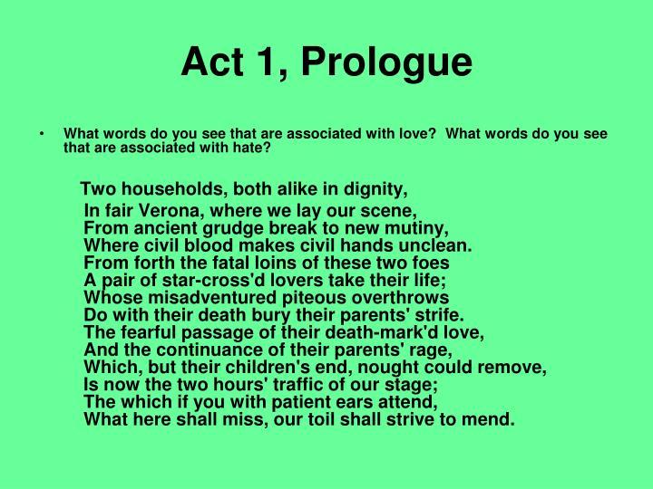 Act 1, Prologue