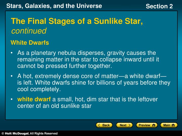 The Final Stages of a Sunlike Star,