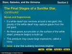the final stages of a sunlike star continued1