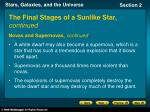 the final stages of a sunlike star continued2
