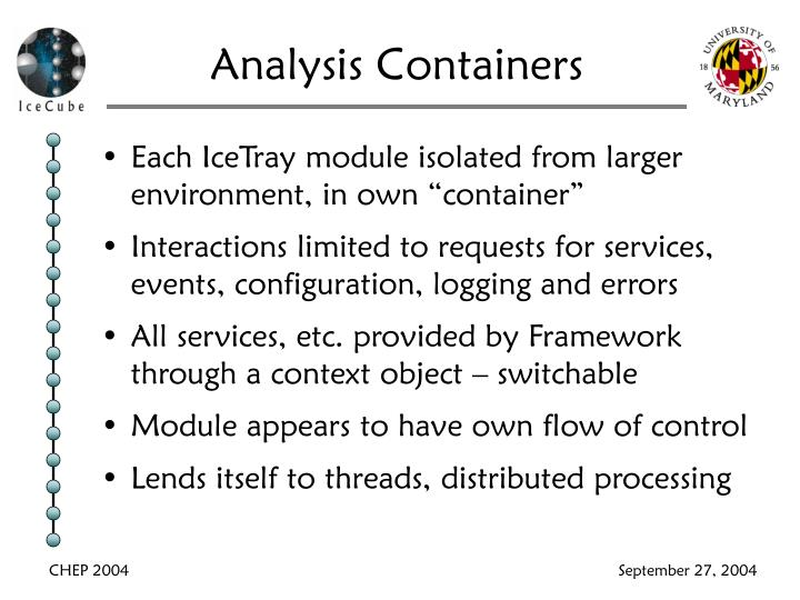 Analysis Containers