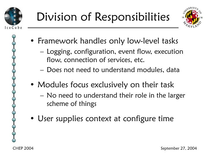 Division of Responsibilities