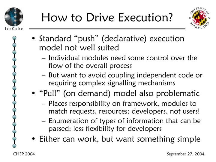 How to Drive Execution?