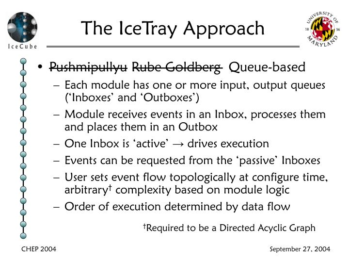The IceTray Approach