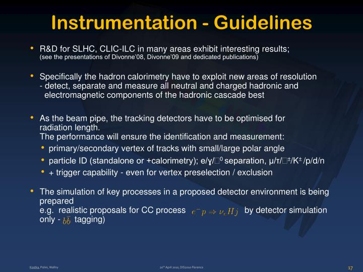 Instrumentation - Guidelines