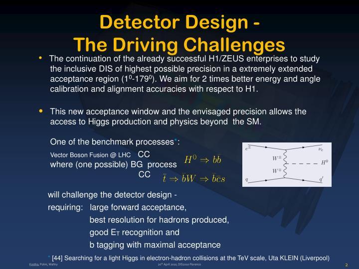 Detector Design -