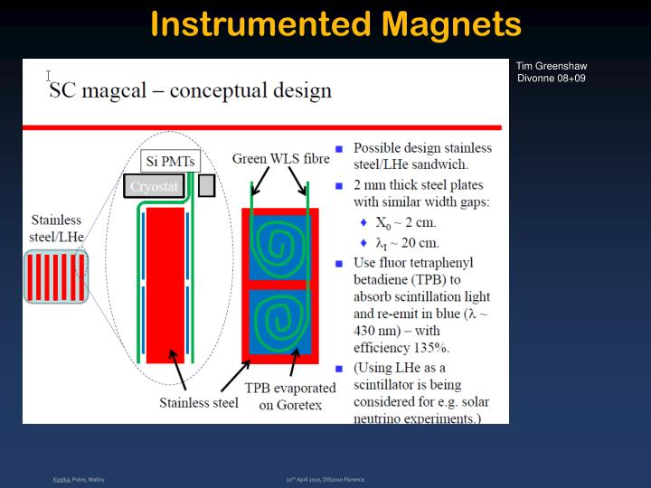 Instrumented Magnets