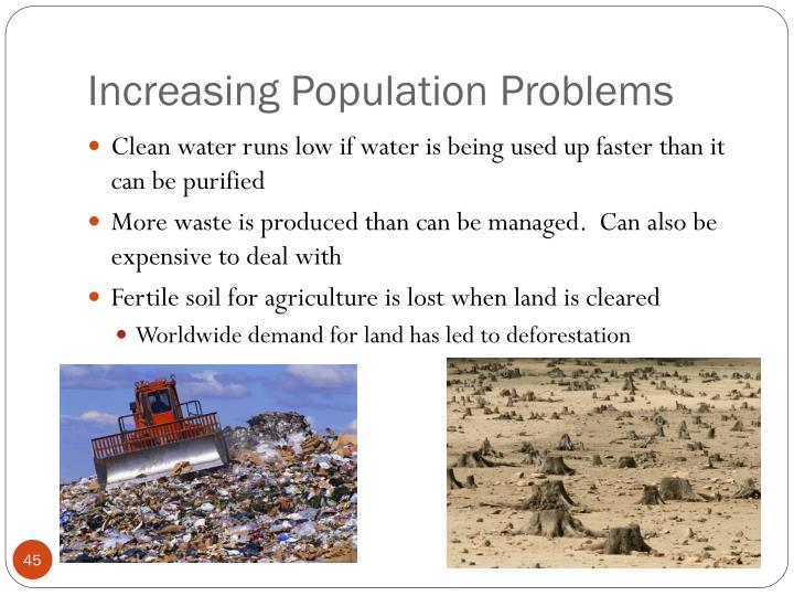 problems of population Hello this is a site that has been set up to focus on -- and to discuss -- the problem of the increasing human overpopulation of our wonderful planet this growth continues relentlessly.