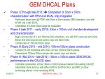 gem dhcal plans