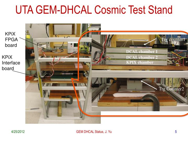 UTA GEM-DHCAL Cosmic Test Stand