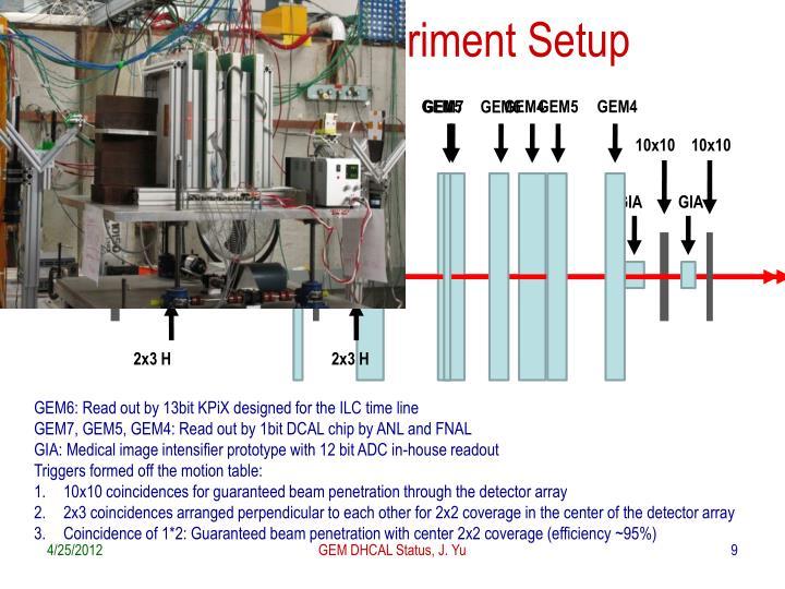 T-1010 Experiment Setup