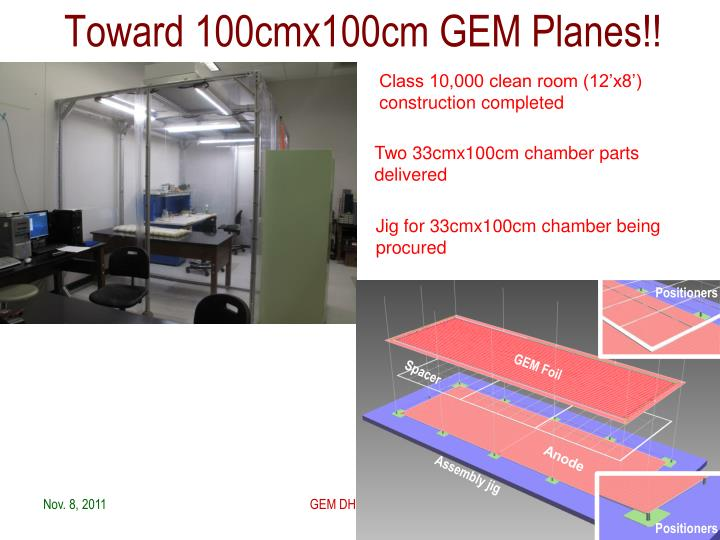 Toward 100cmx100cm GEM Planes!!