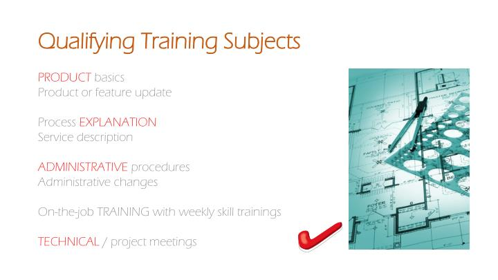 Qualifying Training Subjects