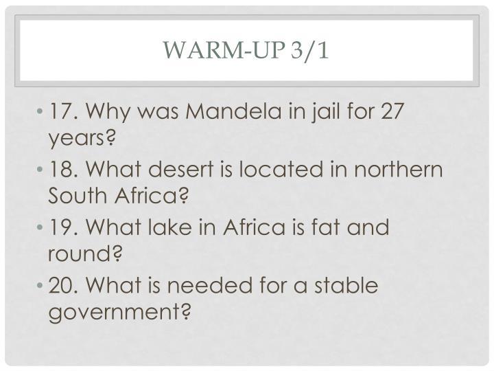 Warm-up 3/1