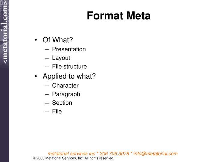 Format Meta