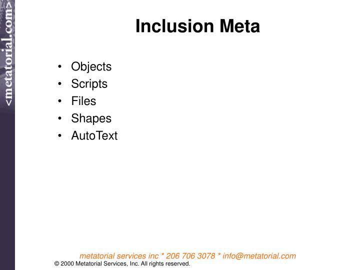 Inclusion Meta