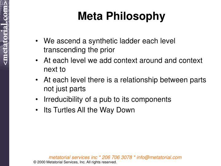 Meta Philosophy