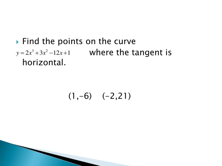 Find the points on the curve