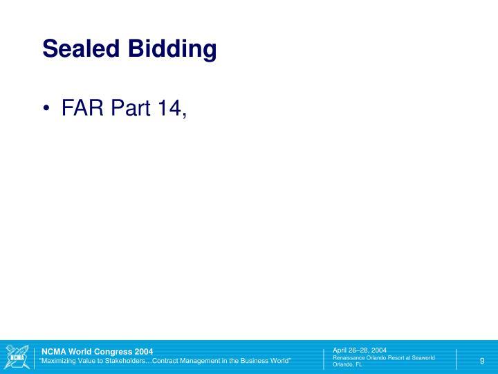 Sealed Bidding