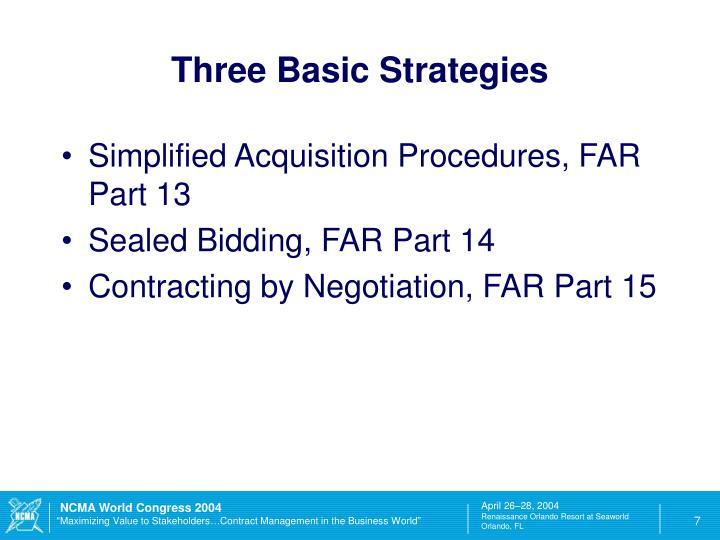 Three Basic Strategies