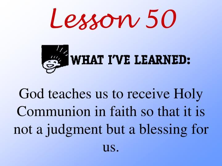 Lesson 50