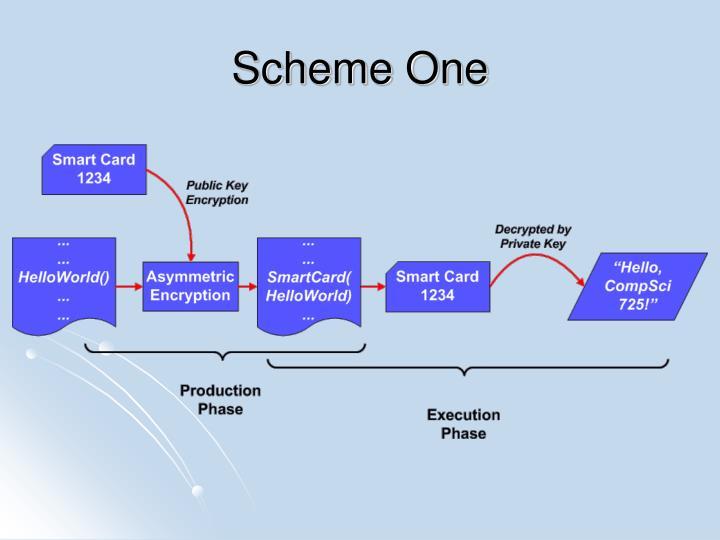 Scheme One