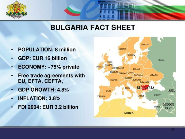 BULGARIA FACT SHEET