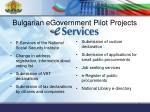 bulgarian egovernment pilot projects1
