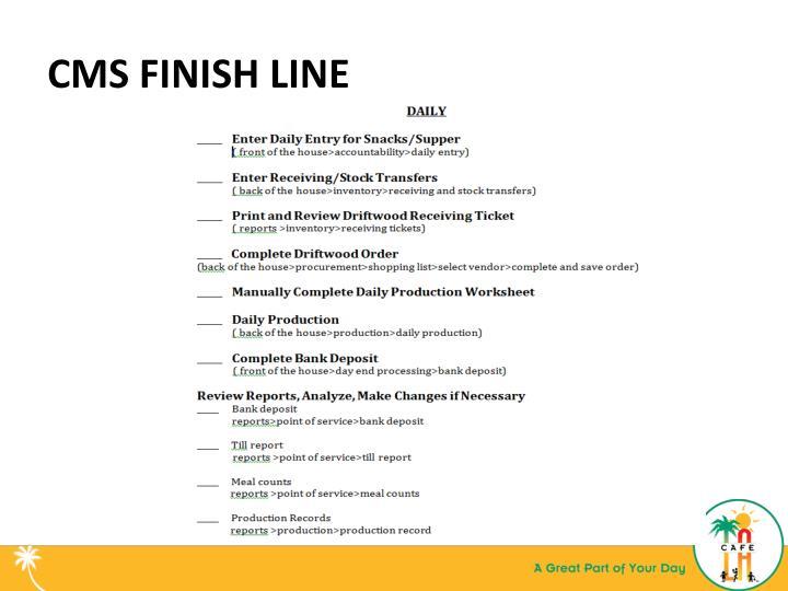 CMS FINISH LINE