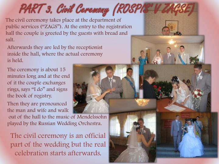 PART 3. Civil Ceremony (ROSPIS' V ZAGSE)