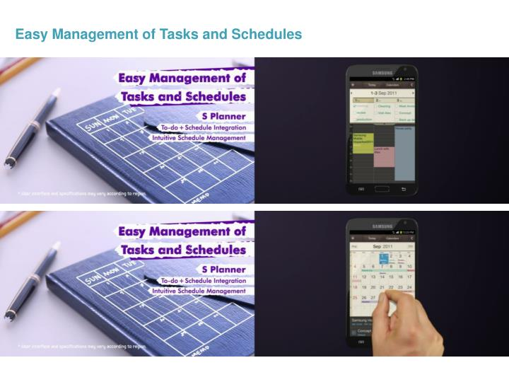 Easy Management of Tasks and Schedules