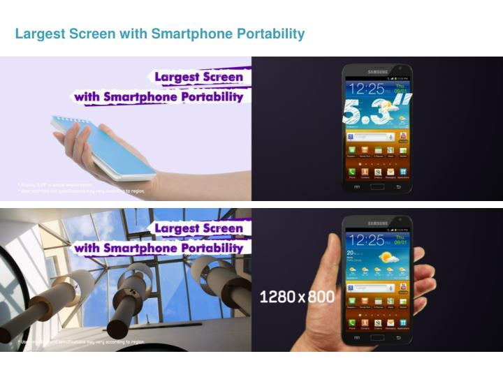 Largest Screen with Smartphone Portability