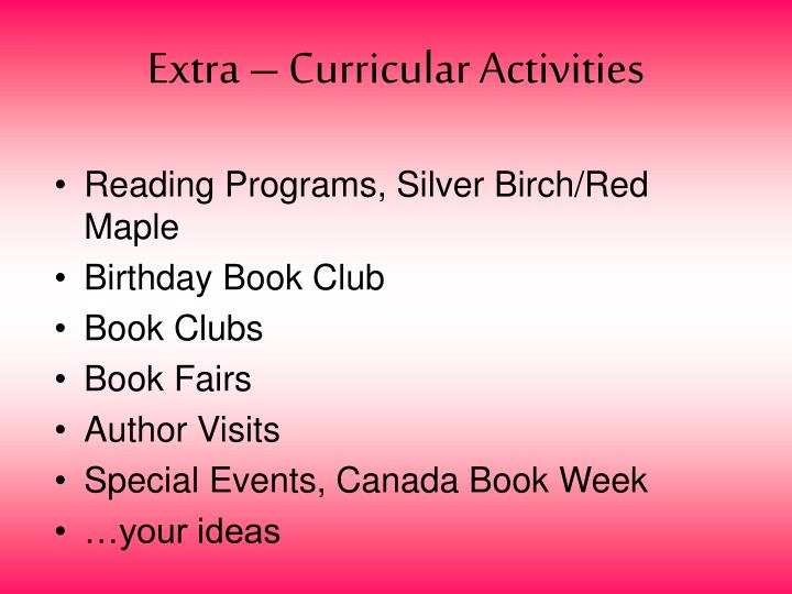 Extra – Curricular Activities