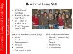 residential living staff